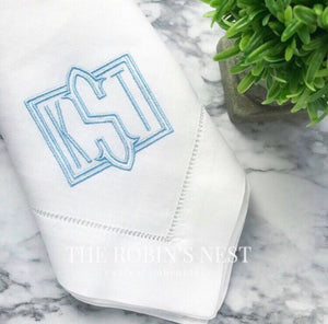 Embroidered Linen Dinner Napkins Monogrammed