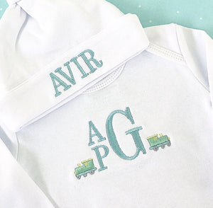 Infant Gown Monogrammed Trains