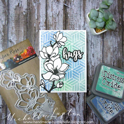 Graphic Floral Card - Michelle Lupton