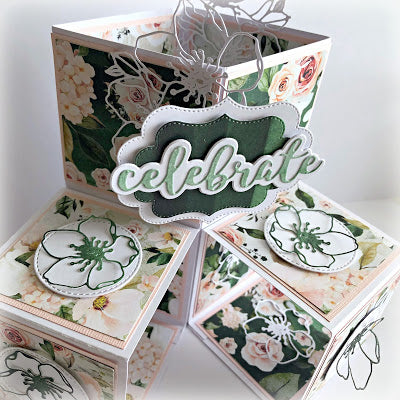 Triple Pop Up Cube Card - Tania Ridgwell