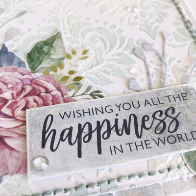 Wishing You A World Of Happiness Card - Tanya Heritage
