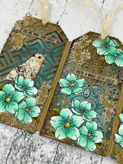 Triptych Tag Card - Mandy Herring