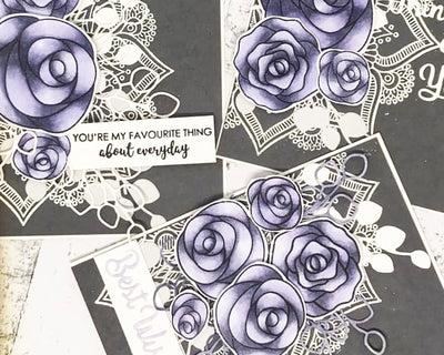 Roses in Grey & Violet Shades - Mandy Herring