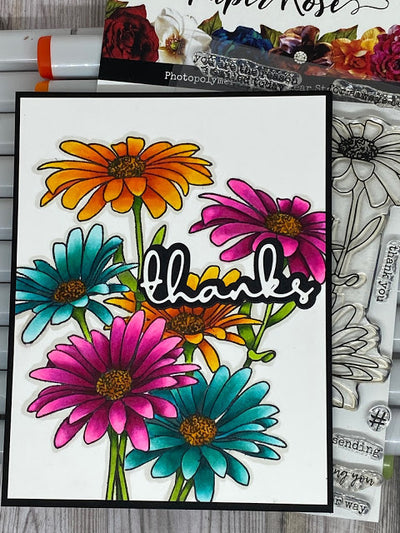 Daisy Bouquet Thank You Card - Amanda Herring