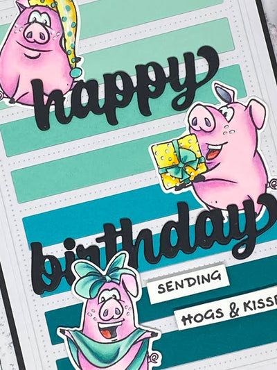 Hogs & Kisses Card - Mandy Herring
