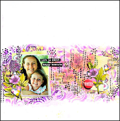 Life is About Happy Moments Layout - Elisa Ablett