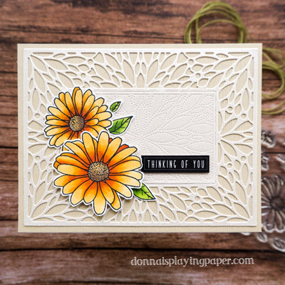 Soft and Elegant Daisy Card - Donna Lewis
