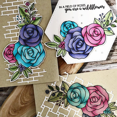 Rose Bouquet Cards - Melissa Goodman