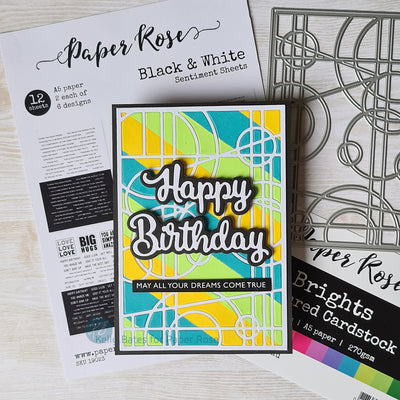Stained Glass Birthday Card - Kelly Bates