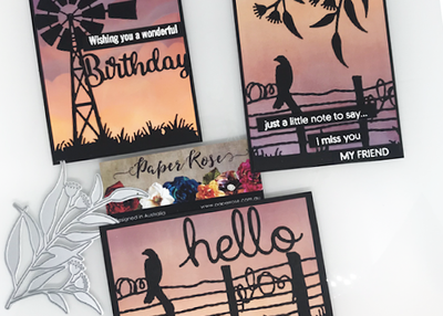 Silhouette Sunset Cards - Mandy Herring