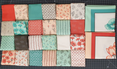 Le Pavot - Sandy Gervais Fat Quarter Pack (24 pieces) + 2 Panels
