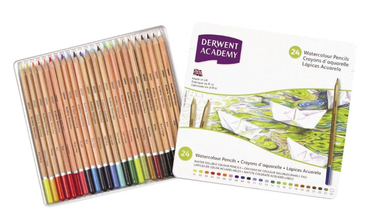 Derwent Academy 24 Watercolour Pencils
