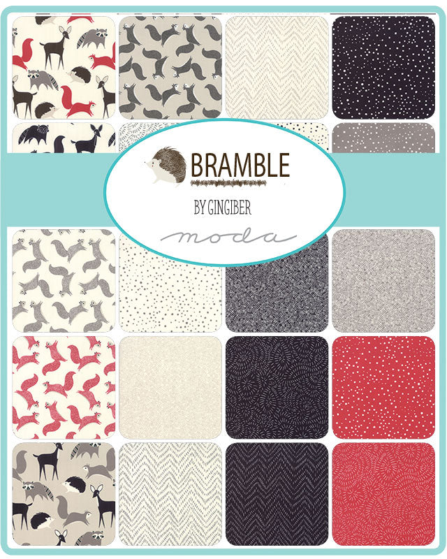 Bramble by Gingiber Forest Friends Stone - Moda Fabrics
