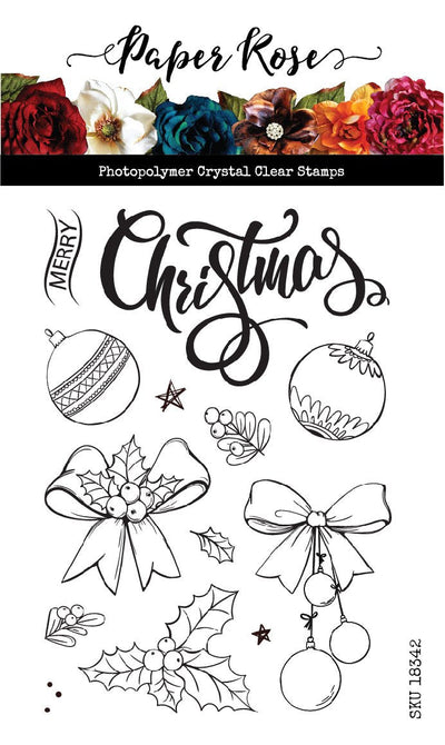 "Sketchy Christmas Ornaments 4x6"" Clear Stamp Set 18342"