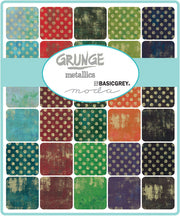 Grunge Metallics by Basic Grey Layer Cake - Moda Fabrics