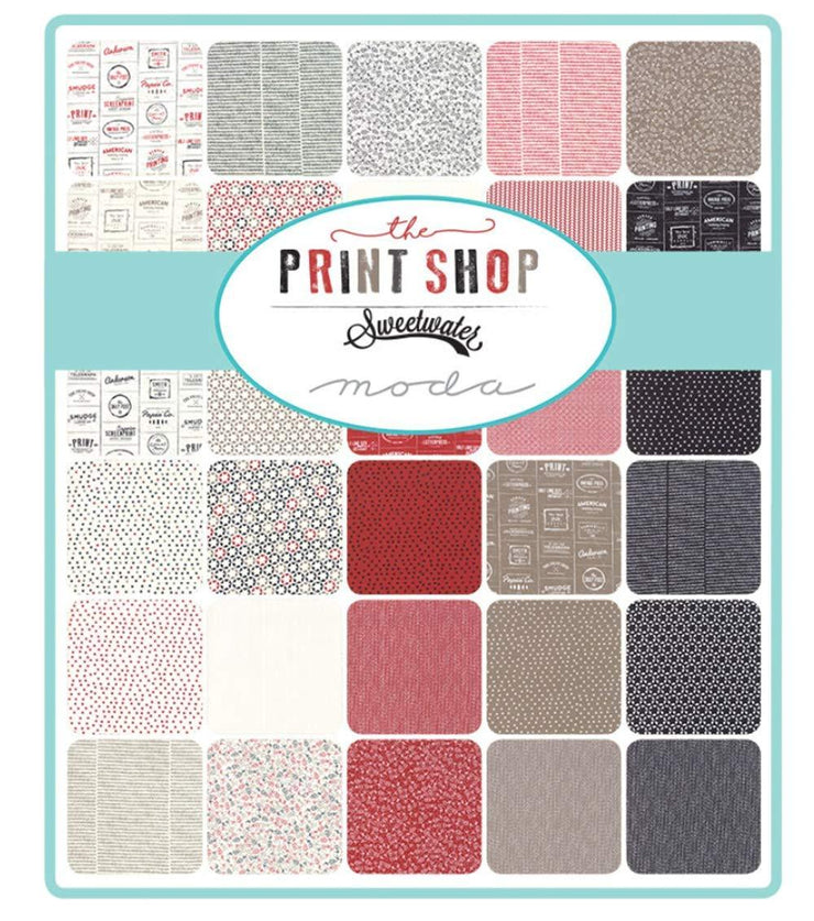 The Printshop by Sweetwater Layer Cake - Moda Fabrics