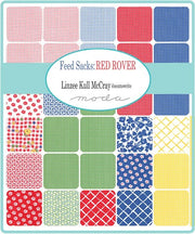 Feed Sacks: Red Rover by Linzee Kull McCray Charm Pack - Moda Fabrics