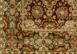 Bokara Rugs Red / Green Mountain King Area Rug
