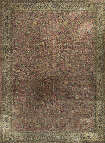 BOKARA RUGS MULTI ANTIQUE INDIAN AGRA : HAND WOVEN 100% WOOL