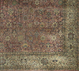 Bokara Rugs Multi Antique Indian Agra Area Rug