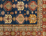 Bokara Rugs Blue / Red Kazak Area Rug