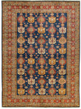 BOKARA RUGS BLUE / RED KAZAK : HAND WOVEN 100% WOOL