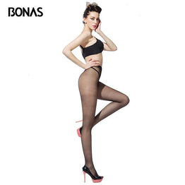 BONAS 15D Non-slip Tights Sexy T Crotch Tight Women Breathable Pantyhose Anti Slip Panty Tear-resistant Stockings Female Collant