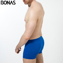 BONAS 6pcs/lot Men Underwear Breathable Boxer Men Plus Size Cotton Boxer Shorts Solid Color Mens Underwear Boxers Wholesale