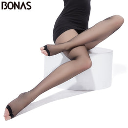 BONAS Summer Sexy T Crotch 15D Nylon Transparent Female Tights