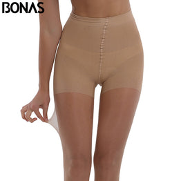BONAS Summer Sun Protection Tights Women Sexy High waist Nylon Breathable Pantyhose Girl Stretchy Resistant Slim Stockings