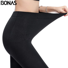 BONAS Women Plus Size Winter Tights High Elastic Velvet Warm Pantyhose Sexy Keep Warm Legins Female High Quality Warm Tights
