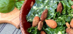 Raw, Organic & Nuts : Quick Avocado Kale~nut Salad