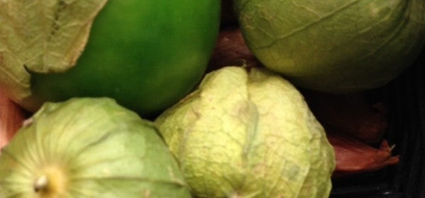 Raw, Organic & Nuts: Tomatillo & Pine Nut Salsa in the raw