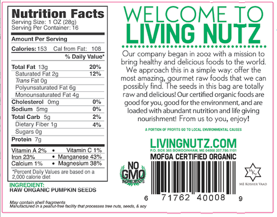 Raw Pumpkin seeds. Organic Pumpkin seeds, organic seeds-Living Nutz