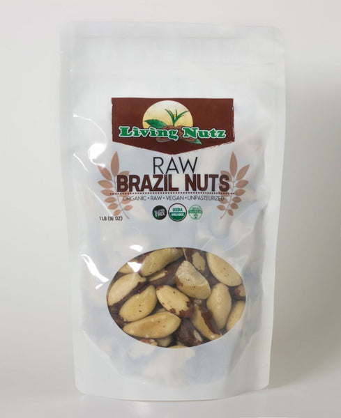 Raw organic Brazil nuts for healthy nut option. Raw nuts-Living Nutz