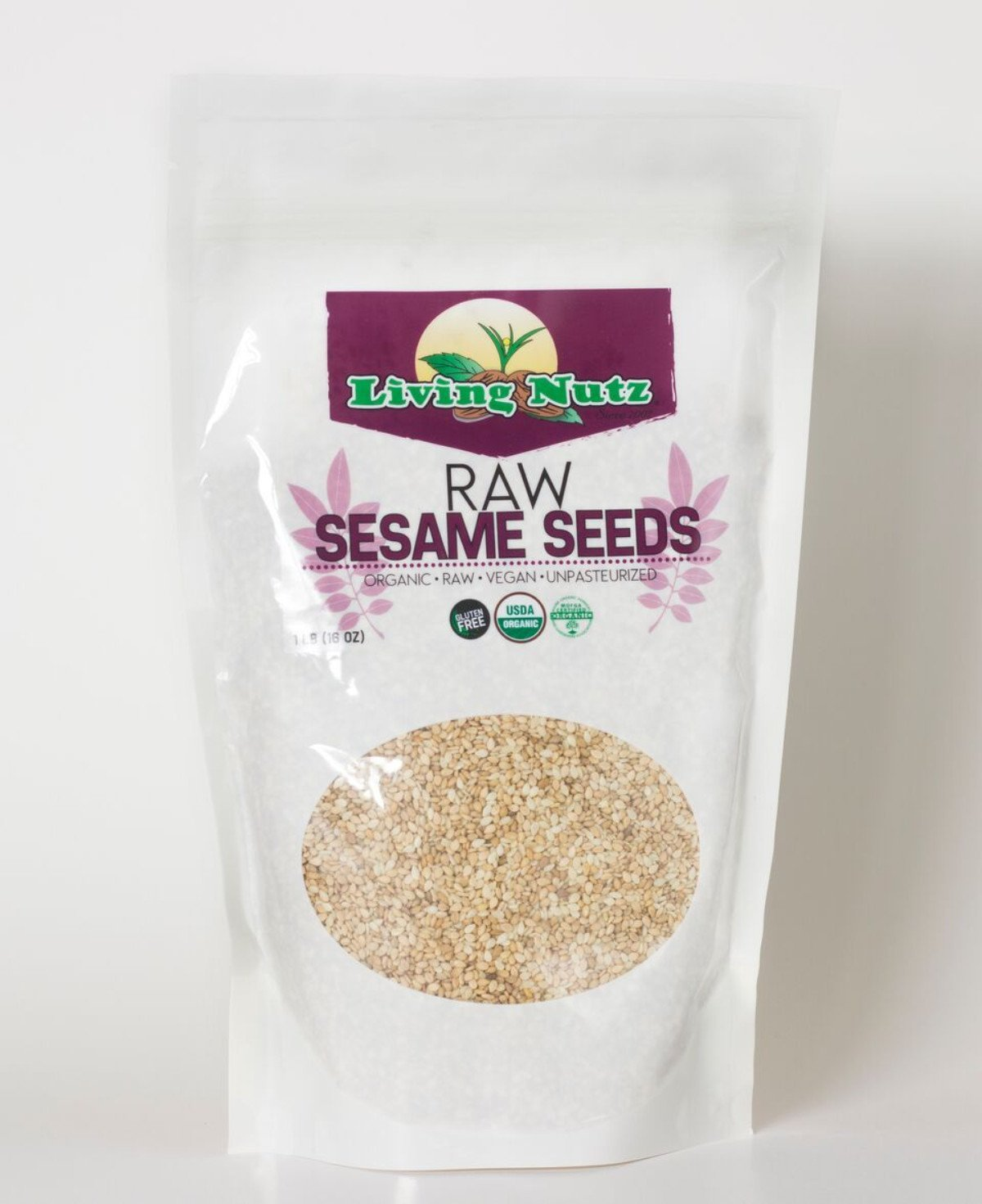 Raw organic sesame seeds. Sesame seeds for health