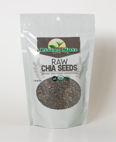 Raw organic chia seeds. Chia seeds for healthy benefits