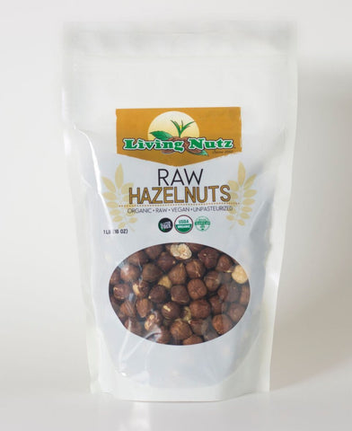 raw organic hazelnuts. Hazelnuts are healthy nuts. Raw nuts-Living Nutz
