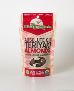 Organic raw sprouted nuts. Teriyaki flavored almonds. Only use unpasteurized almonds
