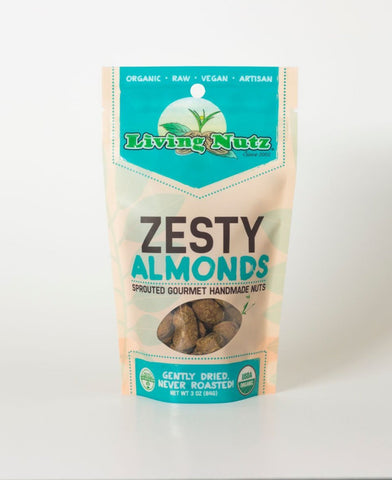 Organic raw sprouted nuts. Sprouted raw & unpasteurized almonds zesty flavor. Living Nuts