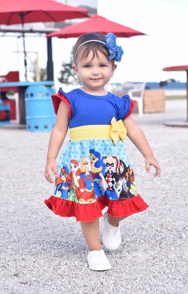 Superhero Dress & Pants Set