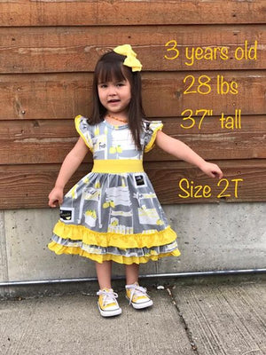 Lemonade Dress size 3/6m