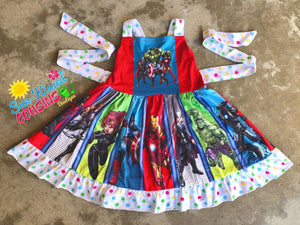 Marvel Superhero Panel Dress