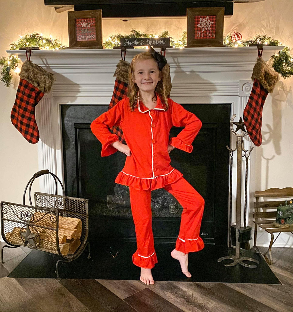 Red Ruffle Pajamas