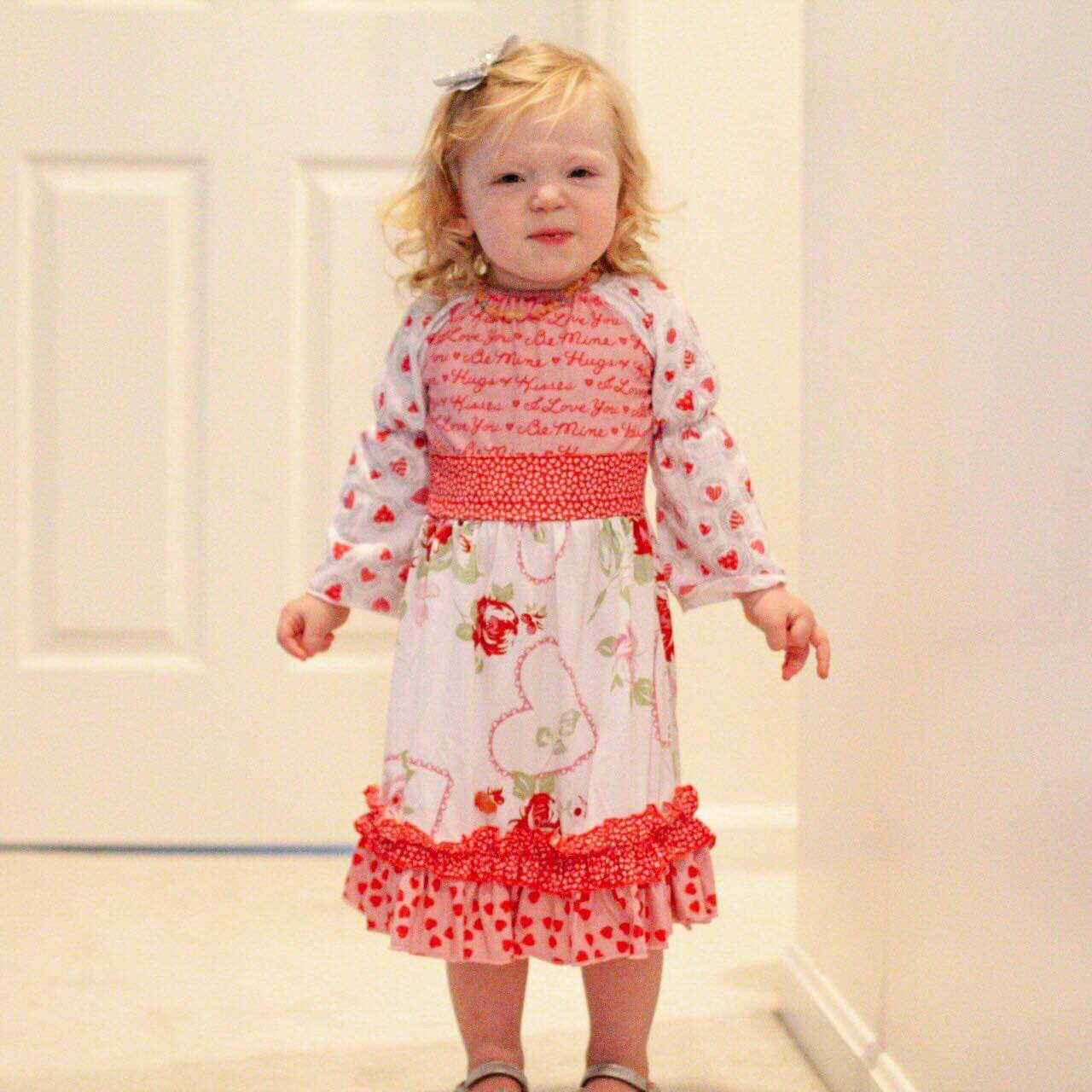 Valentine's Day Peasant Dress