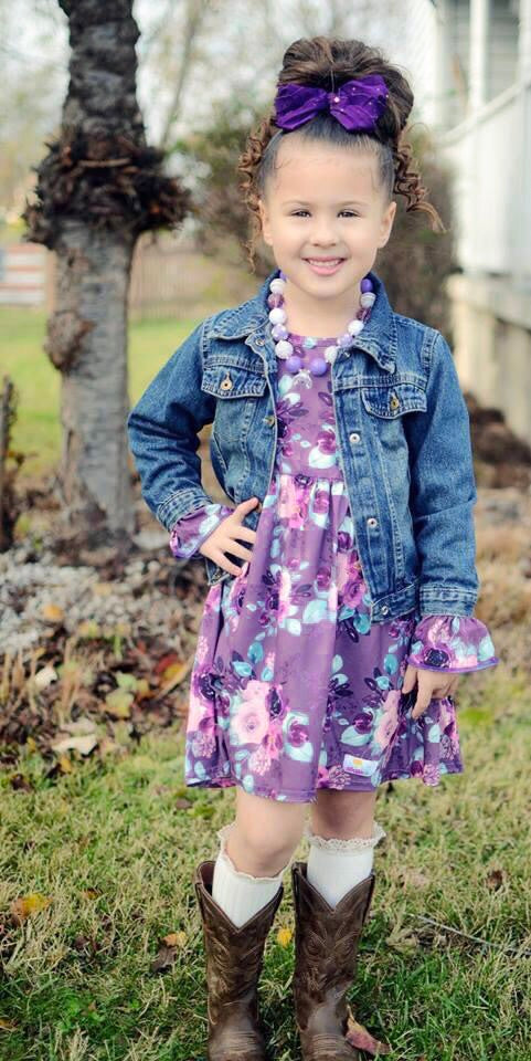 Amethyst Floral Long Sleeve Dress