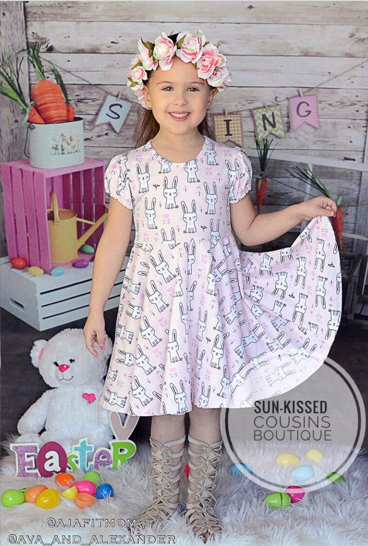 Bunny Twirl Dress - 3m, 6m