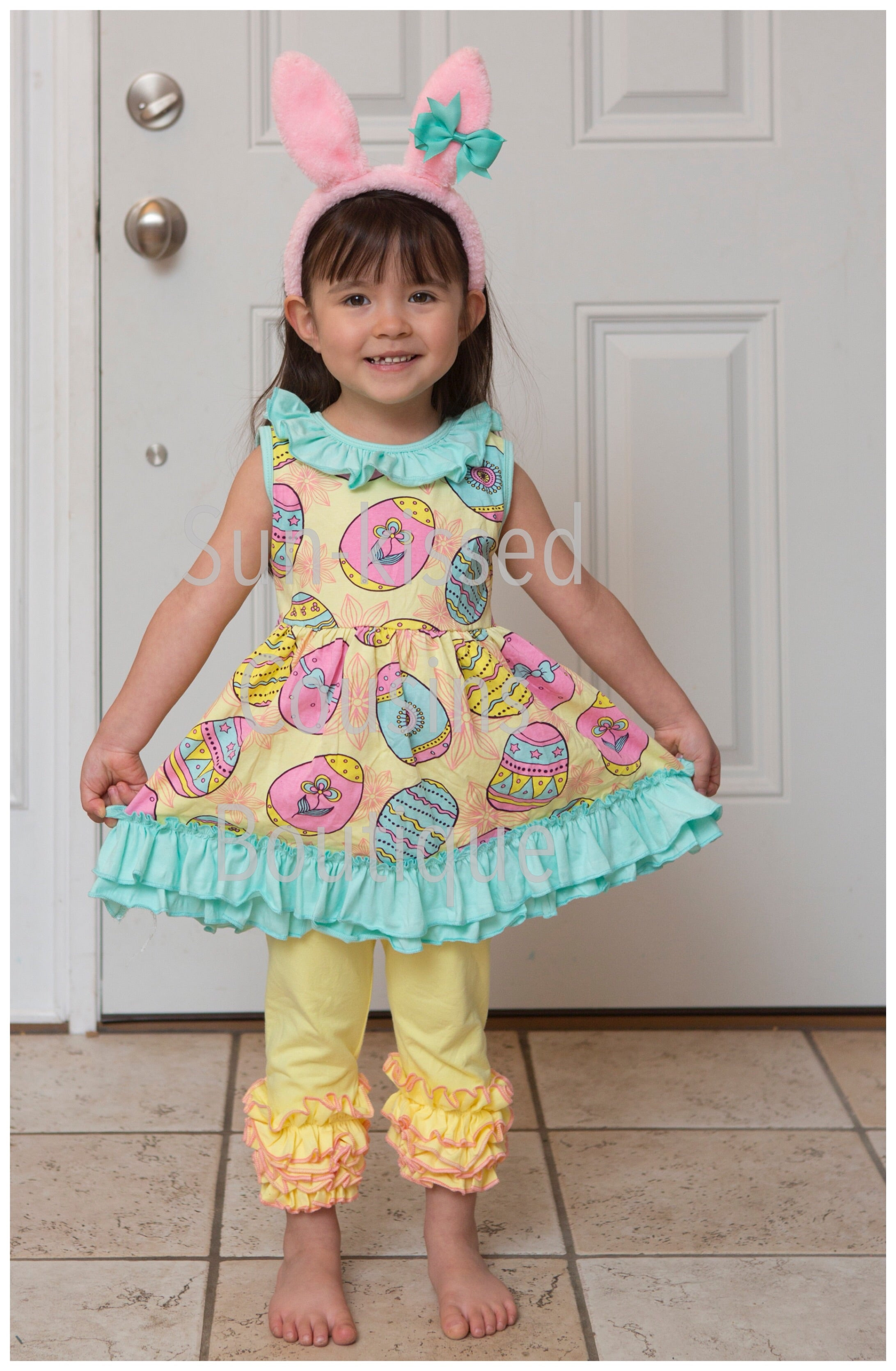 Easter Egg Ruffle Tunic - 12m