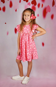 Pink Hearts Pearl Dress