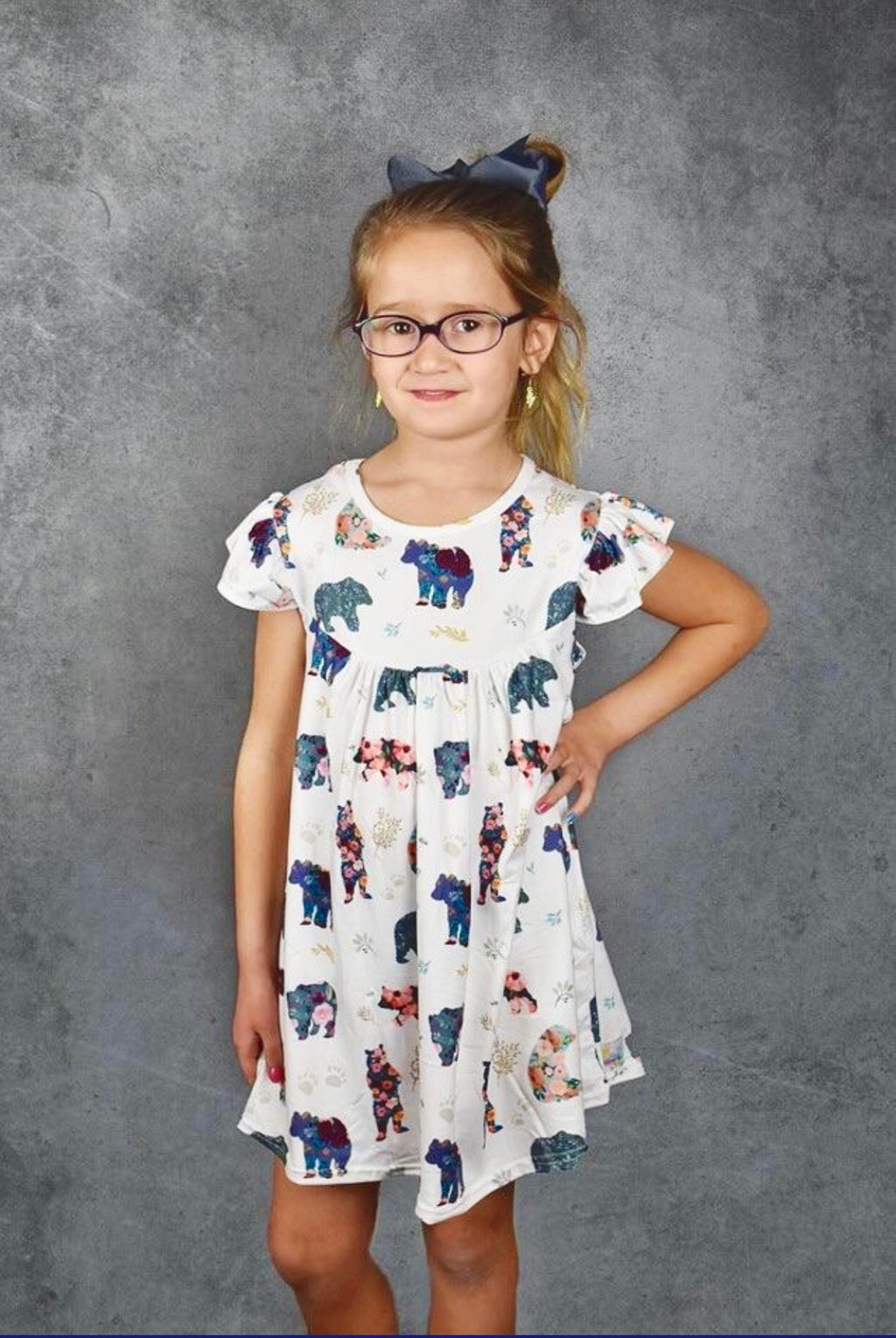 Floral Bear Pearl Dress